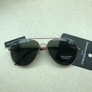 Banana Republic Women's Aviator Sunglasses